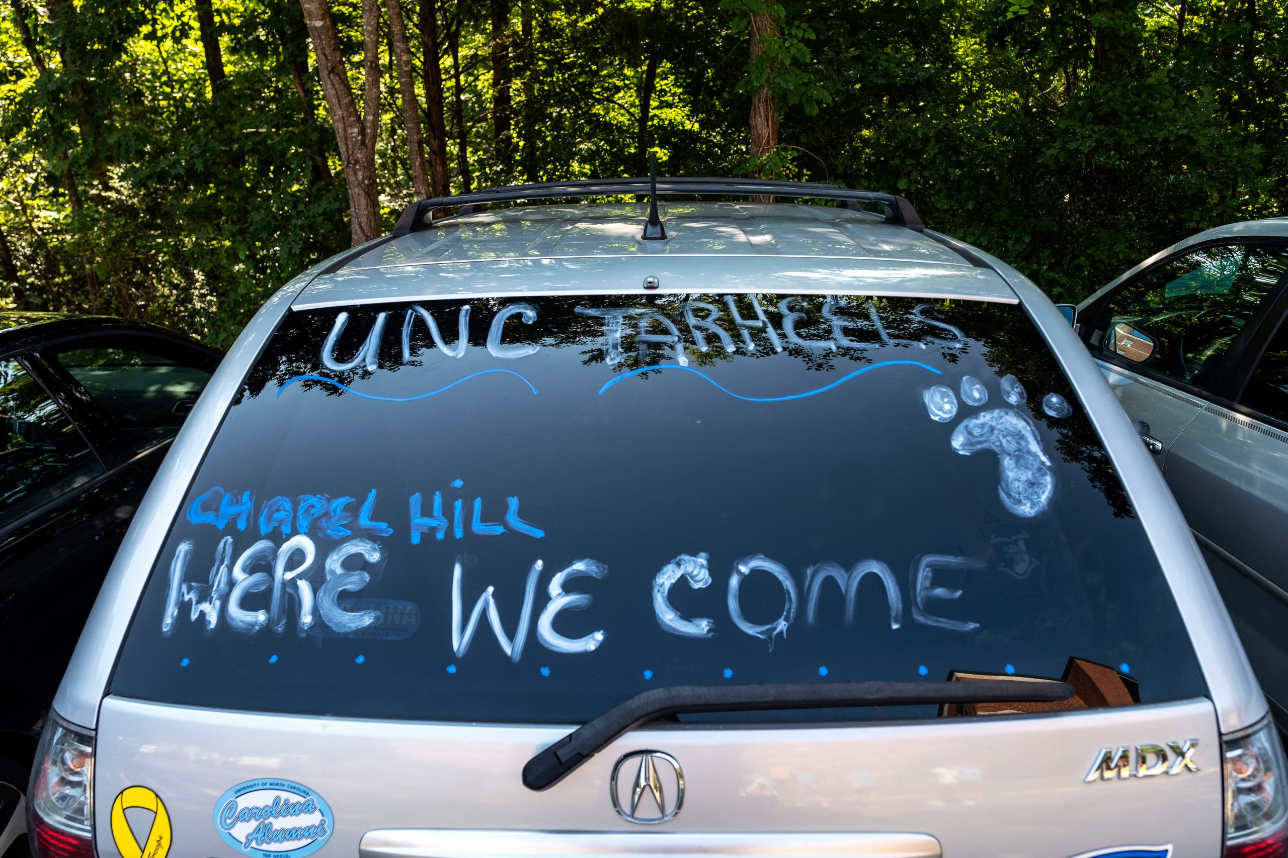 New student move-in on the campus of the University of North Carolina at Chapel Hill.